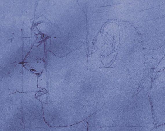 Portrait from life (schematic sketch)